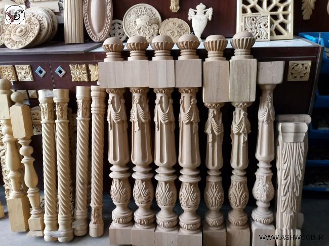 عکس نرده چوبی٬ هندریل پله٬ کف پله٬
