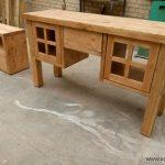 کشو چوبی زیر تخت , میز آرایش , دکوراسیون سبک روستیک چوب کاج , اتاق خواب