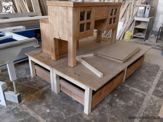 تخت خواب و میز آرایش روستیک , میز آرایش مدرن و کلاسیک