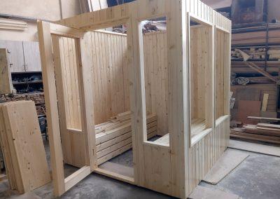 ساخت سونای خشک پیش ساخته چوب کاج روسی