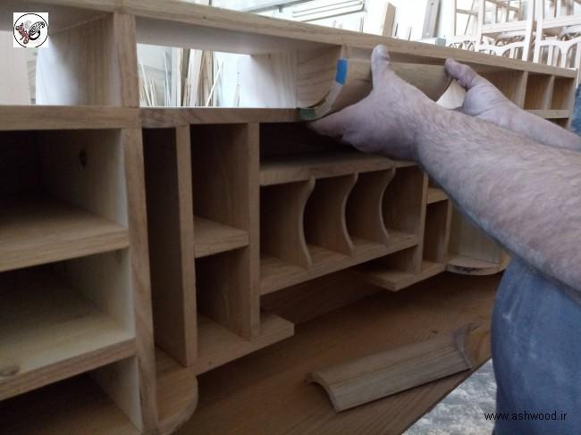 عکس دکوراسیون چوبی و کتابخانه چوب بلوط عکس دکوراسیون چوبی و کتابخانه چوب بلوط
