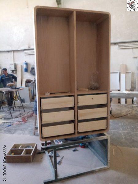 کمد کشو دار چوب راش , کمد چوبی کمد زیبای چوبی ساخت 2019