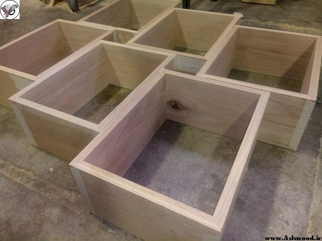 شلف کتابخانه چوبی