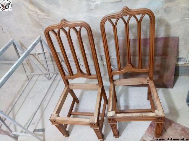رنگ کاری چوب , رنگ کاری صندلی چوبی , رنگ چوب راش