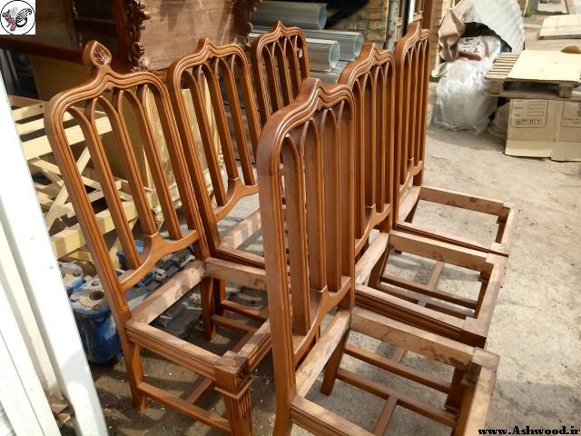 صندلی تمام چوب راش , ساخت صندلی چوبی طرح اسپانیایی