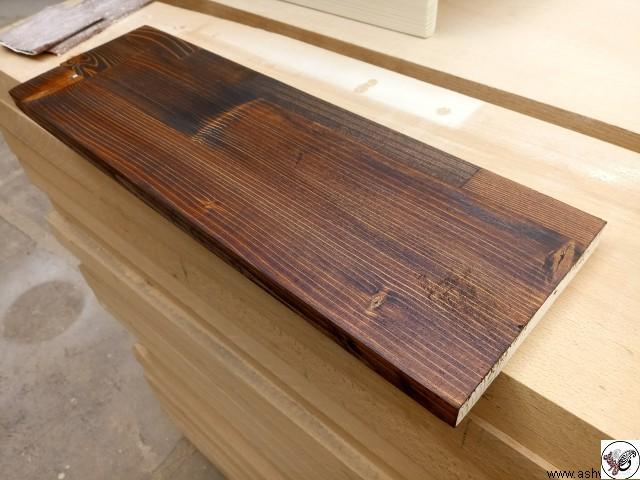 ورق فینگر جوینت چوب کاج روسی بعد از رنگ گردویی
