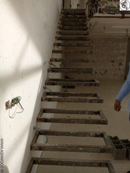 عکس پله فلزی معلق ساختمان ویلایی گیلاوند