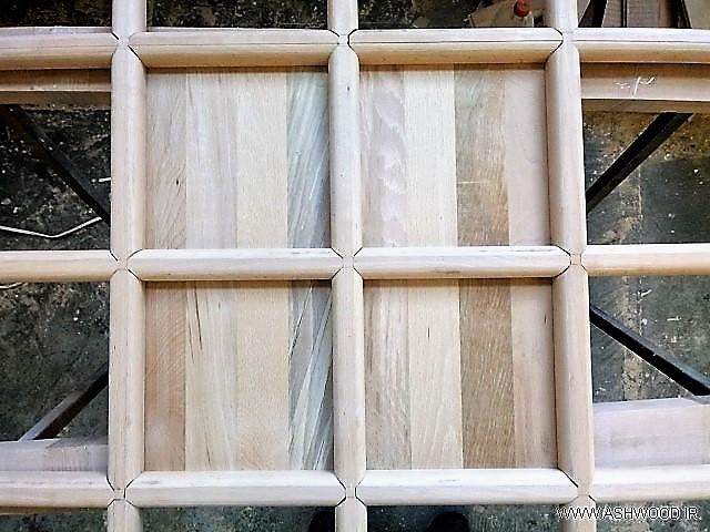 سقف کاذب چوبی , سقف چوب راش , خوانچه پوش