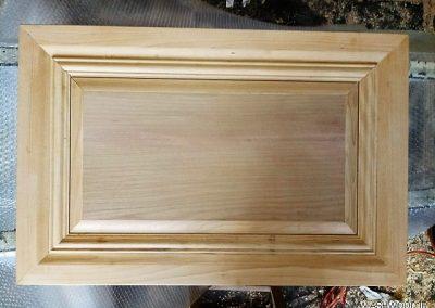 درب کابینت آشپزخانه , درب تمام چوب کابینت
