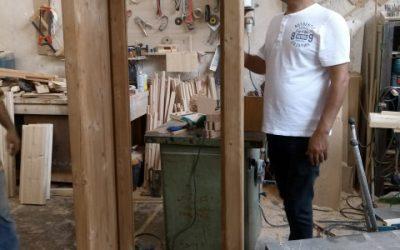 ساخت پنجره قوسدار با چوب ترمووود , دکوراسیون مهندس اعتصامی خیابان ایران