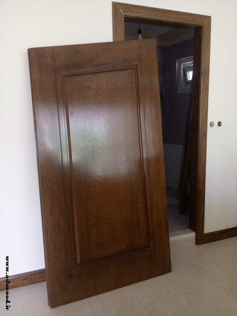 درب چوبی قاب برجسته