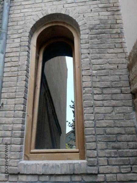 ساخت پنجره چوب ترمووود , پنجره قوس دار