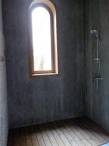 نصب چوب ترمووود برای کف حمام