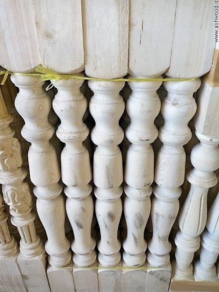 نرده چوبی خراطی , نرده راه پله چوبی