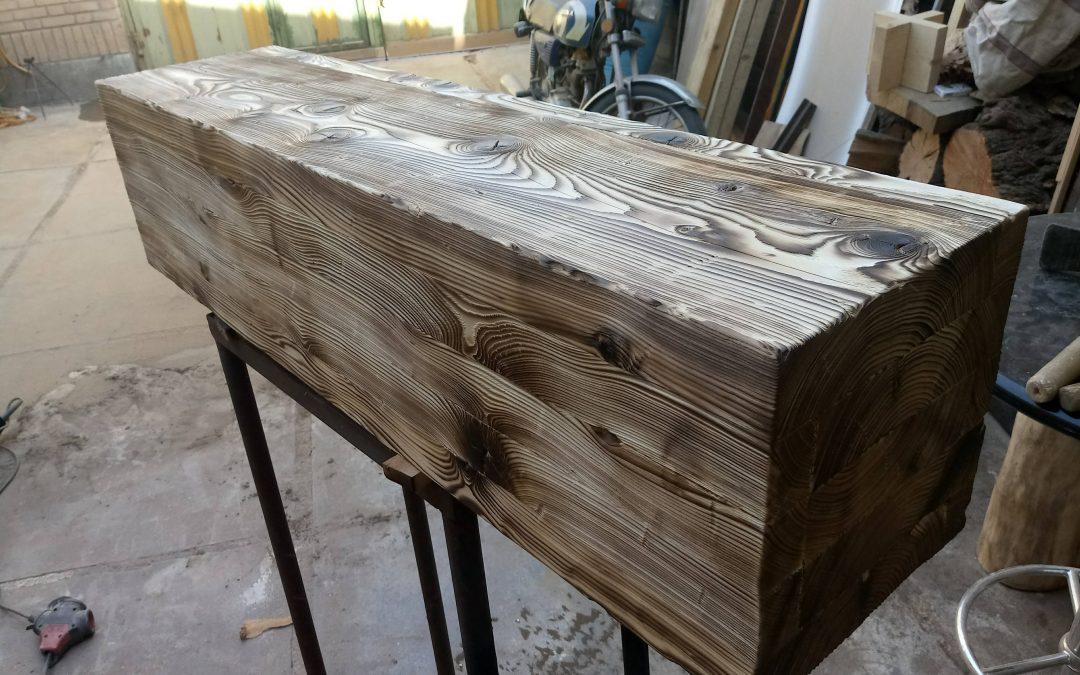 چوب سوخته یا چوب ترمو, محصول ایرانی از کاج روسی