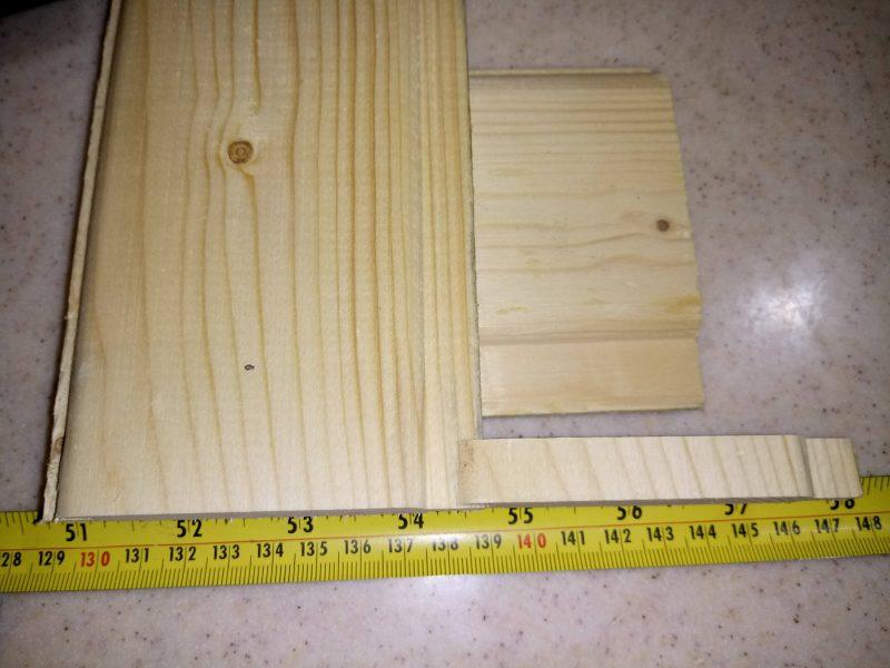 لمبه چوبی ضخامت 13 میلیمتر عرض 10 سانت چوب کاج روسی