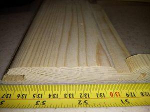 لمبه چوبی ضخامت 16 میلیمتر عرض 10 سانت چوب کاج روسی