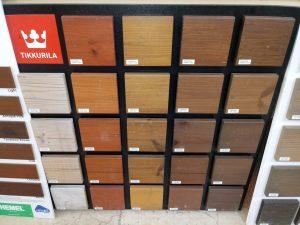طبقه بندی رنگ های چوب