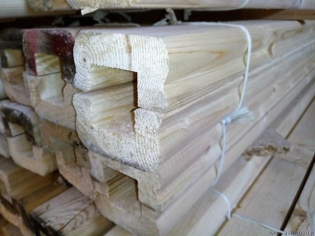 هندریل چوب کاج , دست انداز چوب روسی , چوب چهار تراش کاج روسی