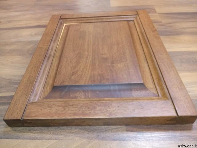 درب کابینت چوبی ساخته شده از پانل های فینگر جوینت چوب رابروود