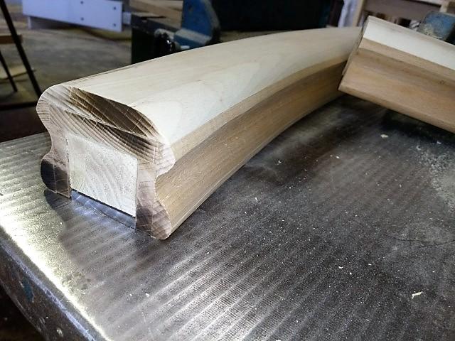 هندیل خمکاری شده چوب راش