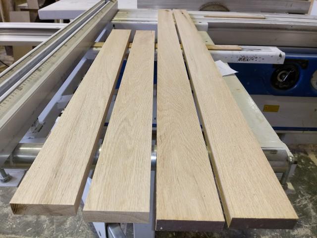 چوب بلوط آمریکایی جهت ساخت قاب عکس یک دراور برش خورده