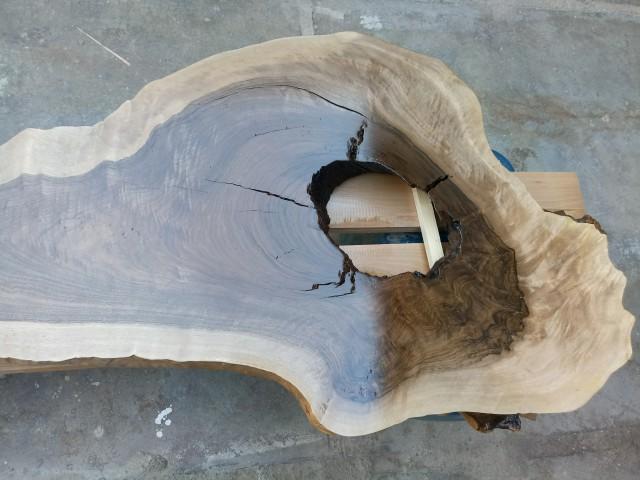 تصاویری زیبا از اسلب چوب گردو سفارش مشتری از شهر یزد