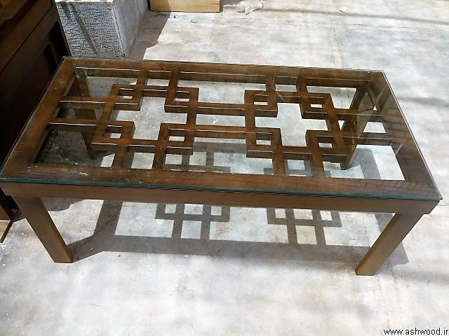 میز جلو مبلی چوب راش
