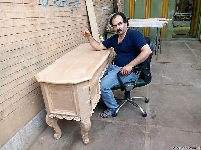 میز تحریر سبک کلاسیک , منبت کاری شده و لوکس , میز کار سفارشی مدیریت