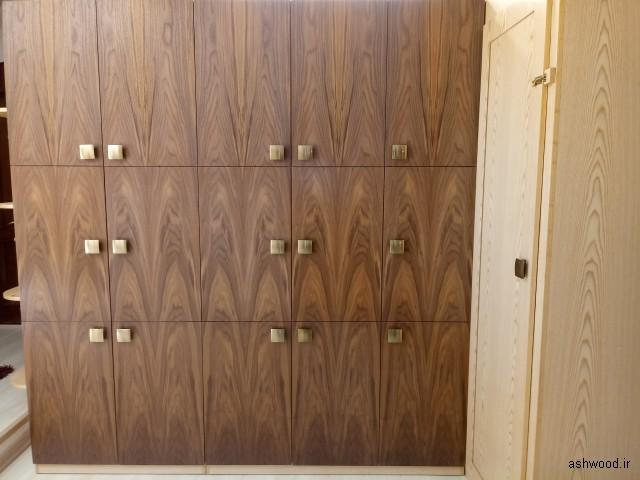 دکوراسیون چوبی ساخته شده از روکش چوب گردو و ملچ , نمونه کار