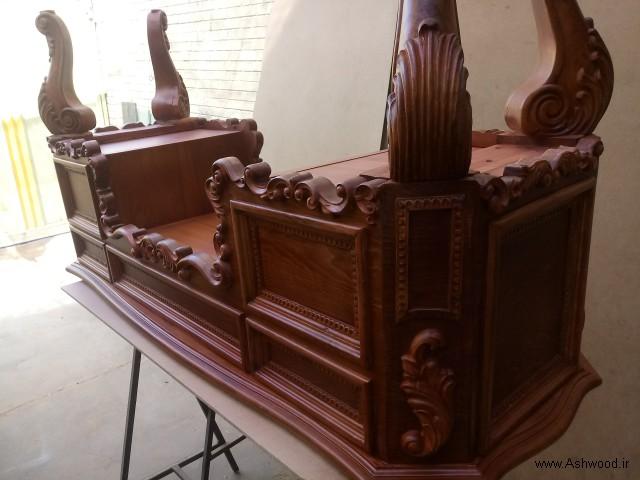 میز تحریر چوبی لوکس , میز کار چوب راش سلطنتی