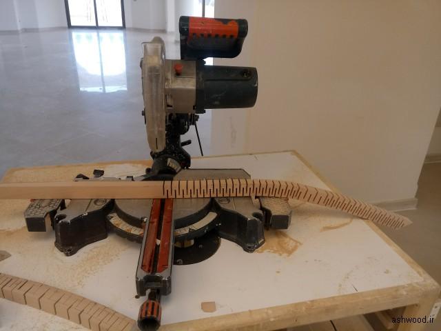 اجرای هندریل و دست انداز پله چوبی در منطقه پلور , نمونه کار