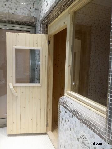 سونای خشک , ساخت سونا , مدل درب سونا