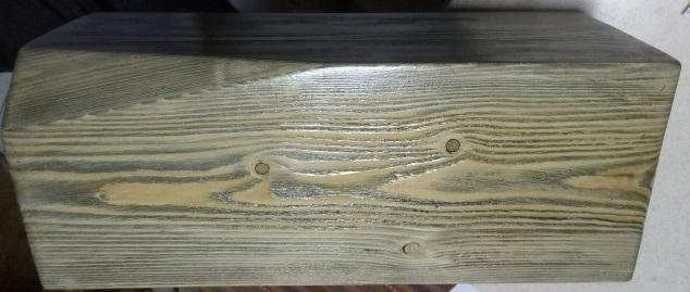 رنگ کاری چوب کاج روسی , سندبلاست چوب و رنگ گردویی