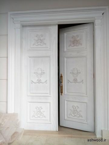 درب ورودی روکش بلوط
