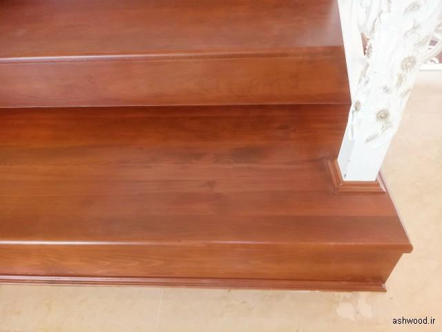 کف پله چوب راش , اجرا و نصب کف پله چوبی پروژه تهران لواسان