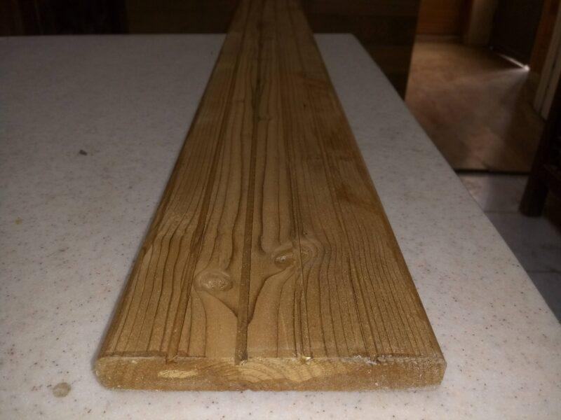 چوب ترمووود ضخامت 16 میل با ابزار دک، کفپوش ترمووود