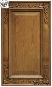 درب تمام چوب , درب چوبی کابینت آشپزخانه منبت