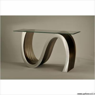 کنسول چوبی مدرن 2019 , میز کنسول چوبی