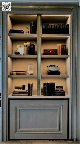 قفسه کتابخانه دکوراسیون اداری