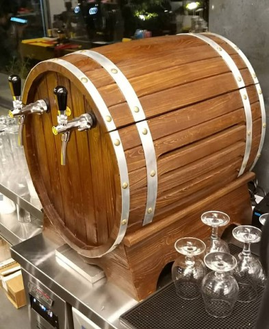 بشکه چوبی یخچالدار , بشکه چوبی کوچک با امکان اتصال گاز CO2