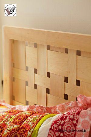هدبرد تخت خواب از روکش و لایی چوب راش