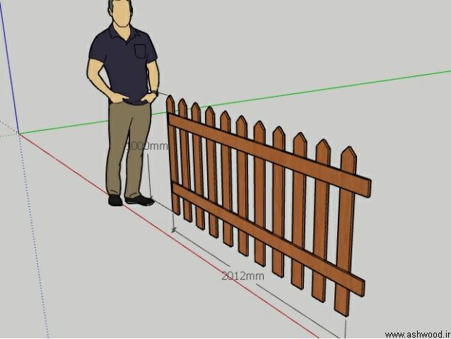 حصار چوبی , نرده چوبی دور باغچه و استخر