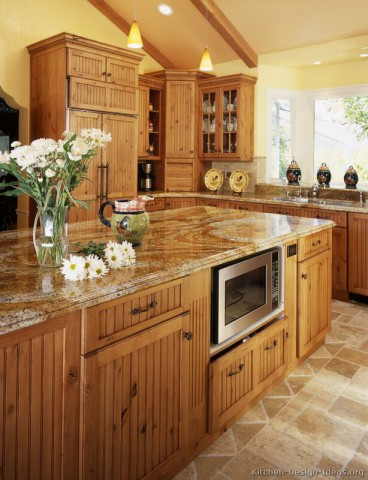 آشپزخانه تمام چوب کاج