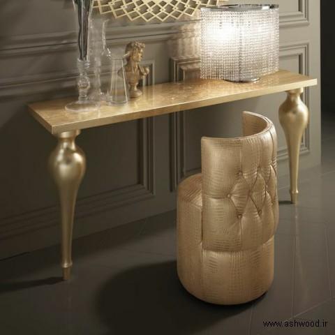 مدل قاب آینه و میز آرایش چوبی