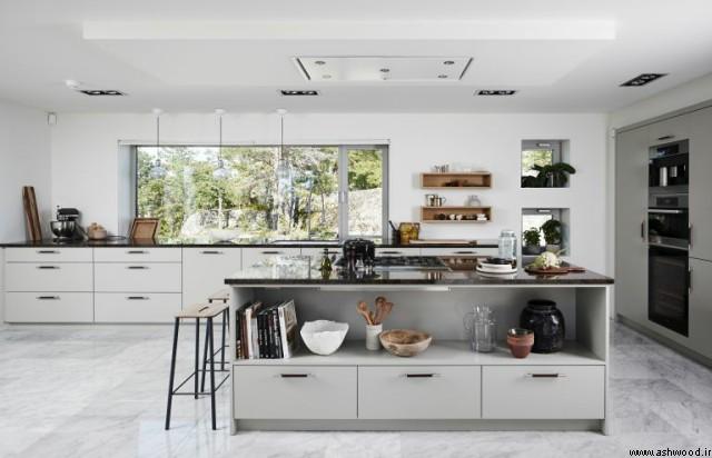 فضای بزرگتر در دکوراسیون آشپزخانه لوکس