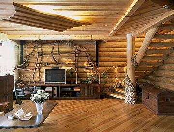 دکوراسیون چوبی سبک ویلایی