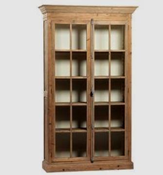 بوفه ویترین چوبی، بوفه ویترین چوبی ساخته شده از چوب زبان گنجشک