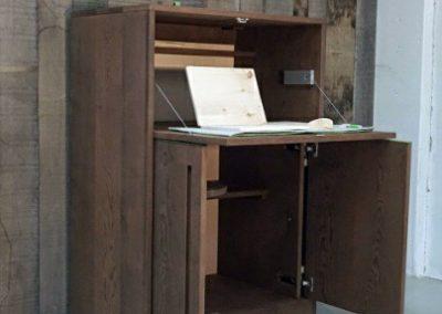 دکوراسیون چوبی ترمووود , سرویس خواب ساخته شده از چوب ترمووود