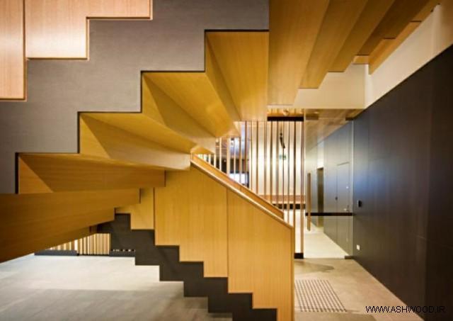 همه چیز درباره چوب روسی - چوب روسی به کار گرفته شده در طراحی پلکان داخلی